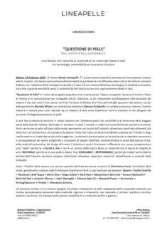 Comunicato stampa - pag.1
