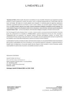 Comunicato stampa - pag.2