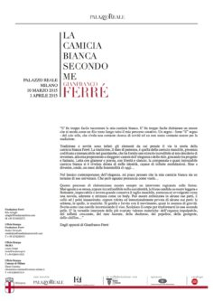 Dagli appunti di Gianfranco Ferré
