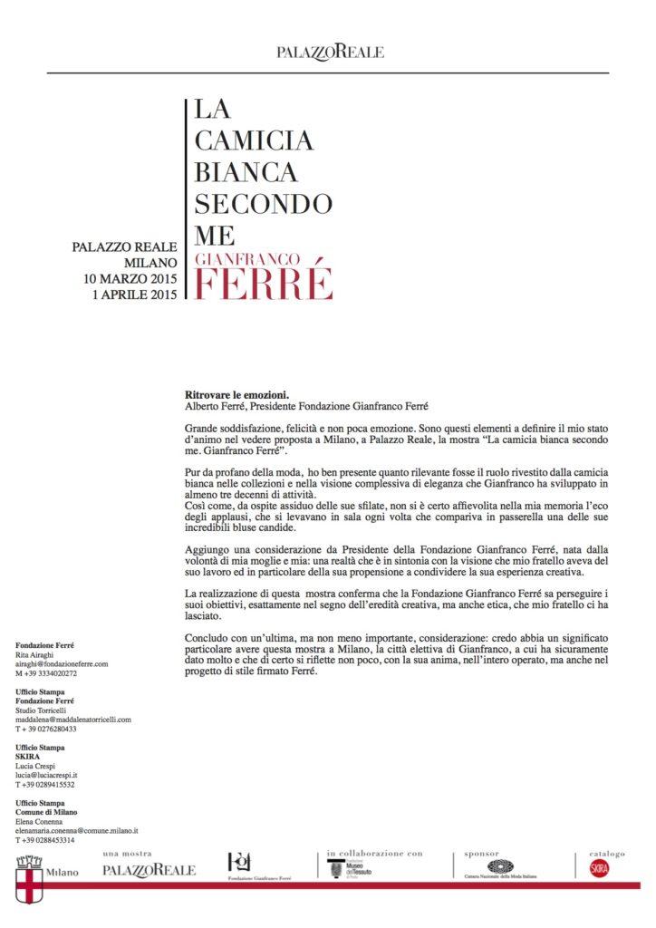 Testo Alberto Ferré