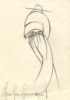 disegno per la collezione Baila P/E 1975