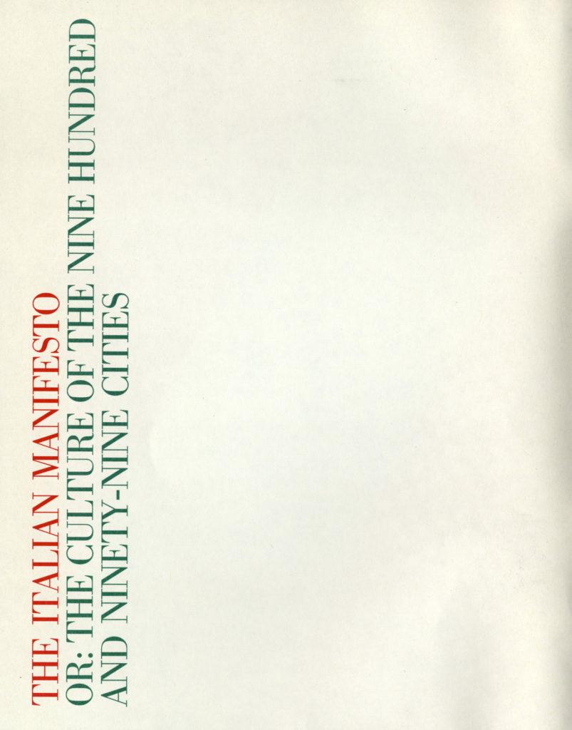 """catalogo di """"Italian Manifesto"""""""
