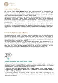 Testo Fondazione Torino Musei, Palazzo Madama e Guido Curto