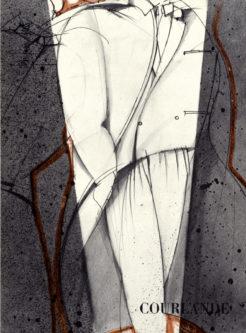 disegno per la collezione Courlande A/I 1976-77
