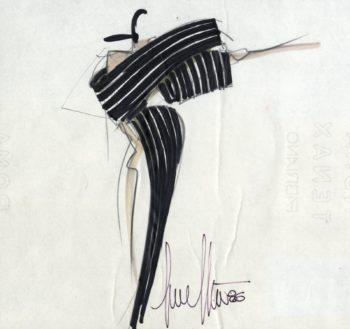 disegno per la collezione  Gianfranco Ferré Alta Moda A/I 1986-87