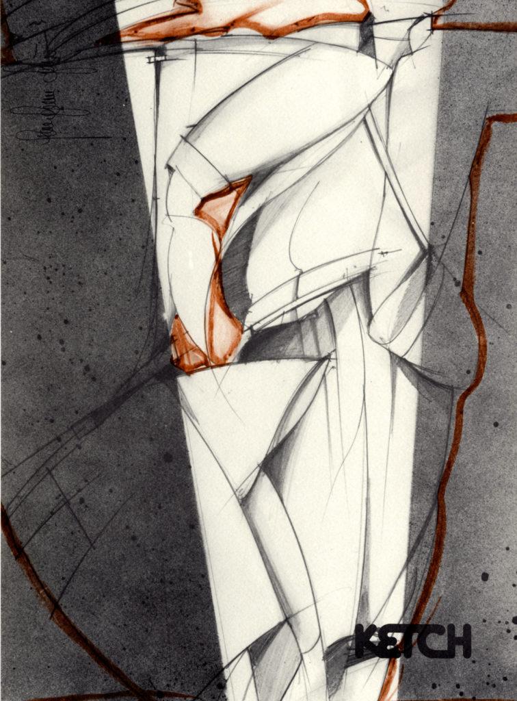 disegno per la collezione Ketch A/I 1976-77