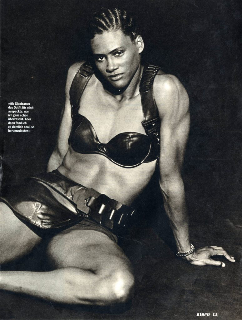 costume per Marion Jones, ph. Peter Lindbergh